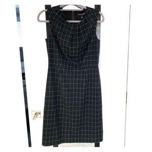 Banana republic grid windowpane sheath dress